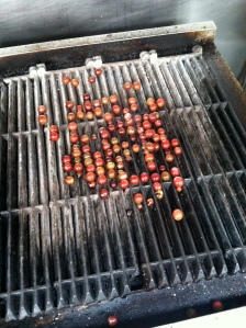 Grilling Grapes.