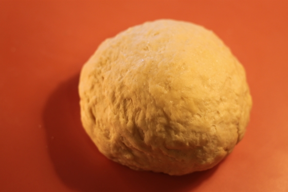Your ball of dough. If you use the entire recipe, you should separate your dough into 4 balls.